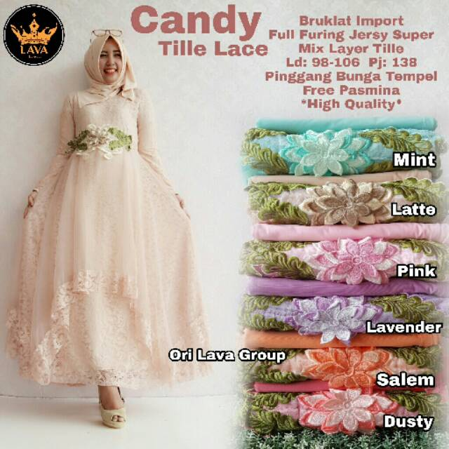 Gamis Candy Tile Lace