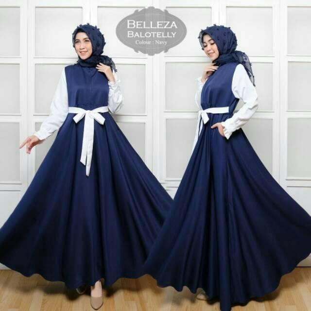 PALING LARIS! BELLEZA BALOTELLY SYARI gamis hijab maxi busui dress balotely baloteli