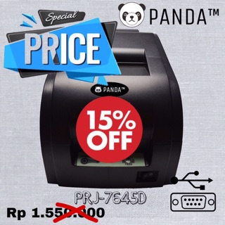 MINI POS RECEIPT DOTMATRIX PRINTER KASIR PANDA PRJ-7645D (USB+Serial) KERTAS HVS 76 MM 1-2-3 PLY
