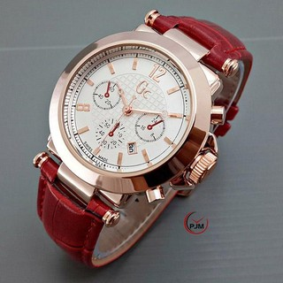 TURUN HARGA !! READY 10 WARNA ! Jam Tangan GC Guess Collection Chrono Kulit GC001 Jam Tangan Murah
