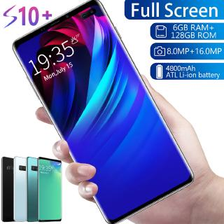 Handphone Android S10 + 8MP + 16MP 6 + 128GB 4 + 64GB Fingerprint Unlocked