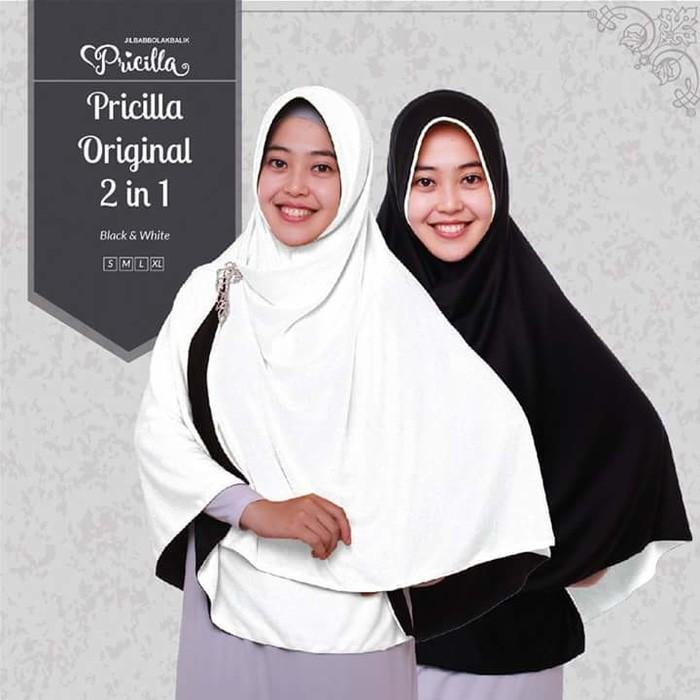 STOK-LAGI Jilbab Pricilla 2 in 1 ukuran L SILAHKAN-DIORDER