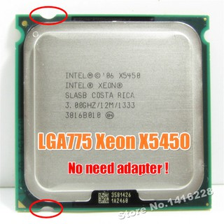 Bebas ongkir Xeon X5450 Processor 3.0GHz 12MB 1333MHz SLBBE SLASB Close to Core 2 Quad q9650 works