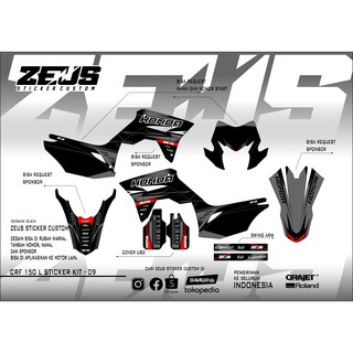 Decal Sticker - Stiker Dekal Crf 150 L Zeus SC 09