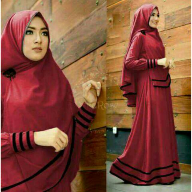 BEST SELLER! TERLARIS! SYFAROSE SYARI gamis maxi dress hijab busui