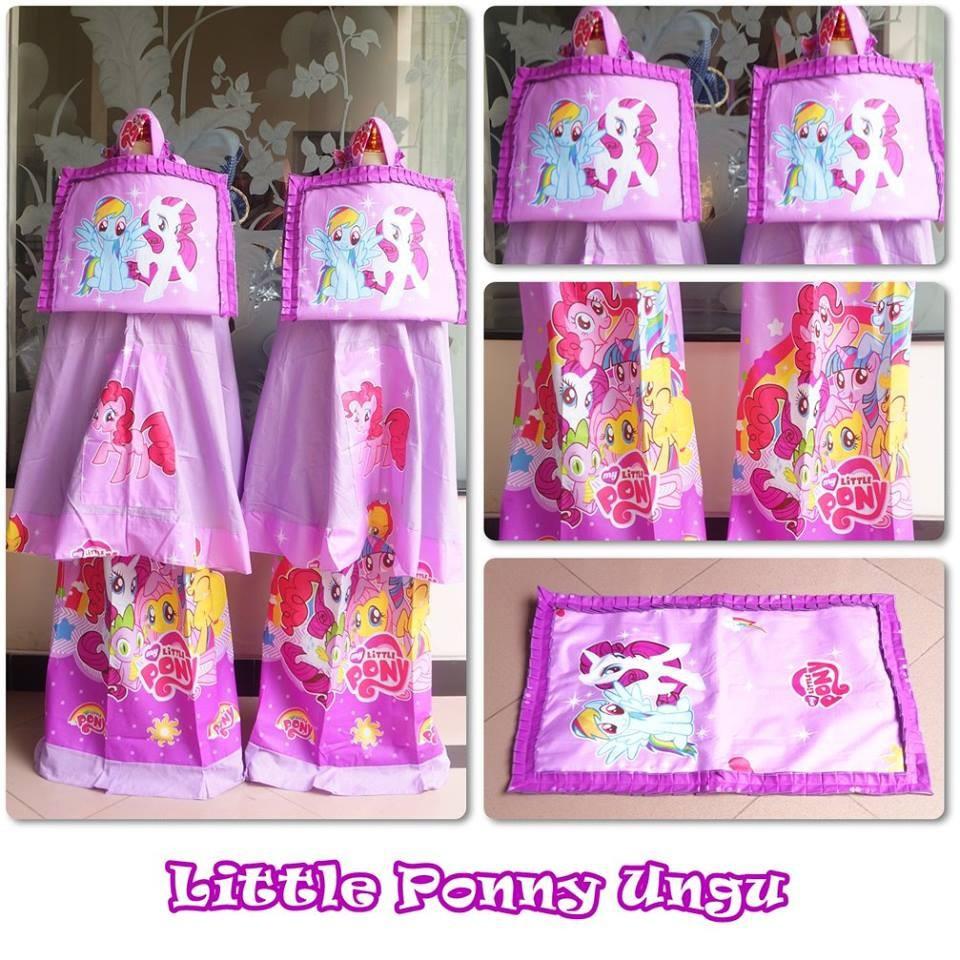 ADEM Mukena Anak Little Pony Ungu (size XS)