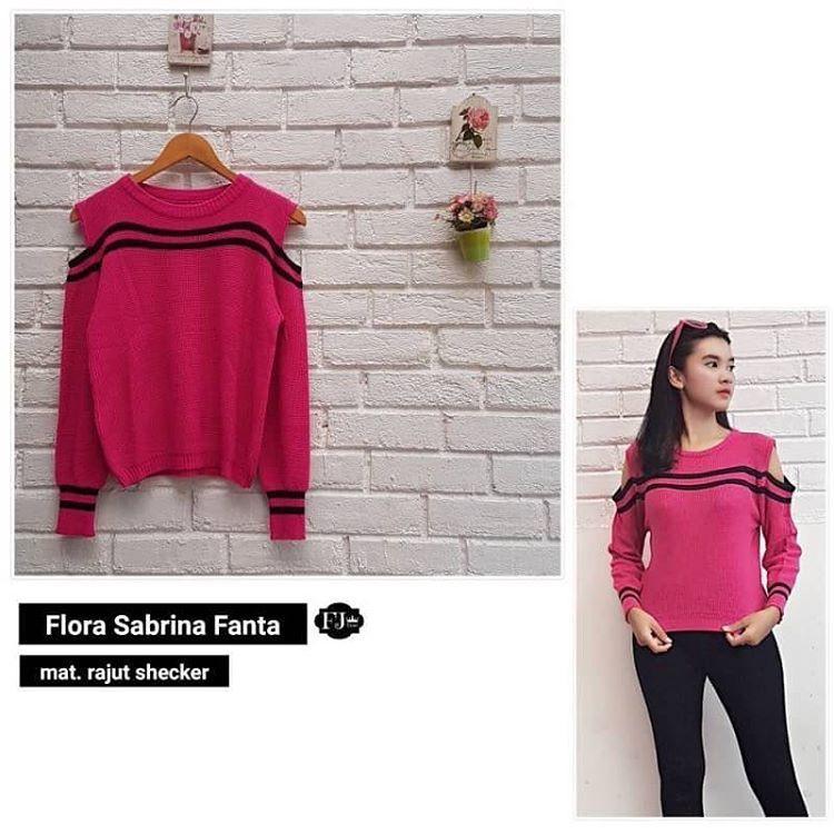 Sweater  Jaket  Baju Rajut  Baju Wanita  Blouse  Flora Sabrina