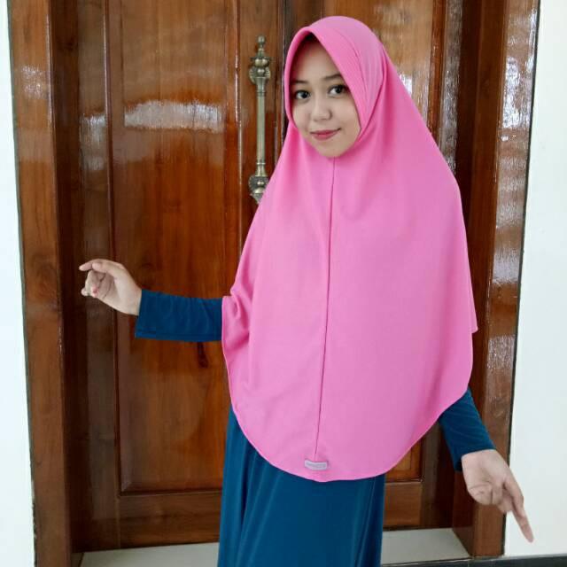 Jilbab Hijab Instan Najwa Polos Pad Antem Pet Antem Ukuran Jumbo XL Muslim Syari Grosir Murah Murmer