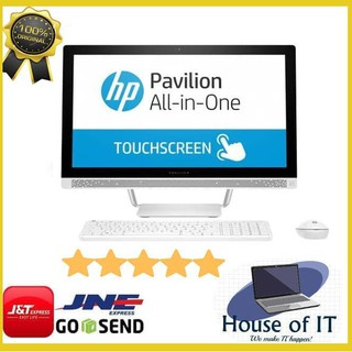 HP AIO PC 24-R012D - i7-7700T- 4GB- 2TB- R530 2GB- WIN10- 24FHD TOUCH