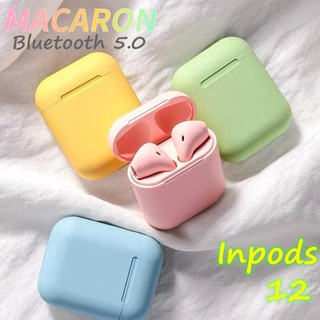 Inpods 12 TWS Bluetooth Wireless Earphone Macaron