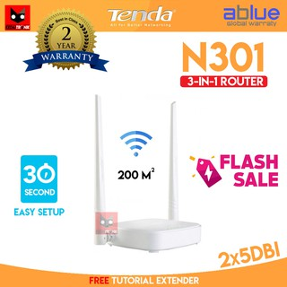 Tenda N301 3 in 1 Wireless ROUTER+Access Point+EXTENDER WIFI 301 AP 300