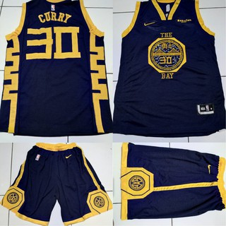 Jersey Basket NBA The Bay GSW Navy  Stephen Curry