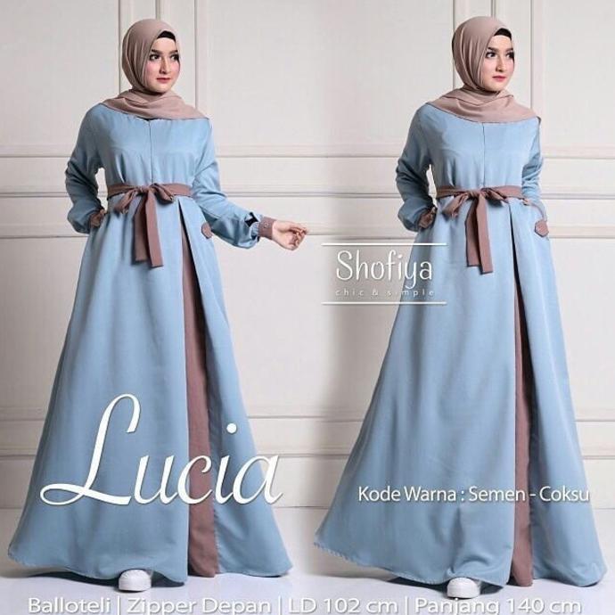 Sale Baju Pakaian Wanita Hijabers Lucia Dress Semen Coksu Termurah On Sale