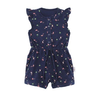 Romper anak | I Am Cotton Jumpsuit Navy Flamingo