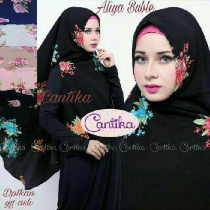 Desain Hijab Kerudung Terbaru Khimar Aliya Buble Jlb11 Nyaman Dipakai