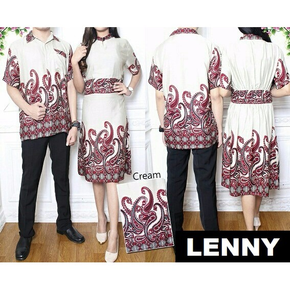 PROMO SPESIAL RAMADHAN Couple LENNY Baju Kemeja + Dress > BEST SELLER