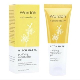 WARDAH NATURE DAILY WITCH HAZEL PURIFYING MOISTURIZER GEL 40ml ALOE HYDRAMILD MOITURIZER CREAM