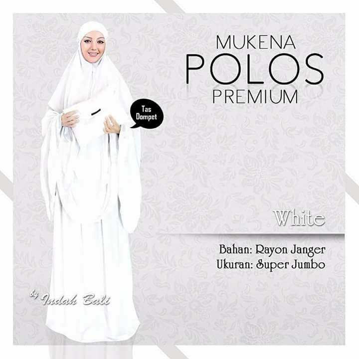 Mukena Bali Premium Polos White