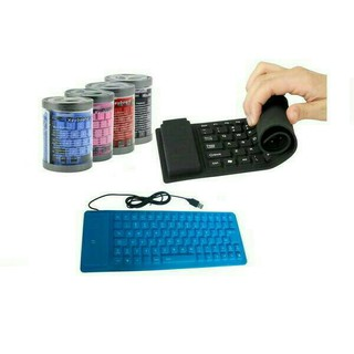 Keyboard Flexibel USB Gulung ANTI AIR
