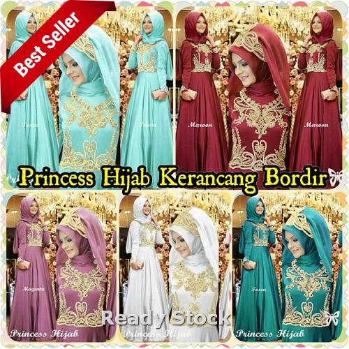 Princess Hijab Kerancang Bordir Termurah