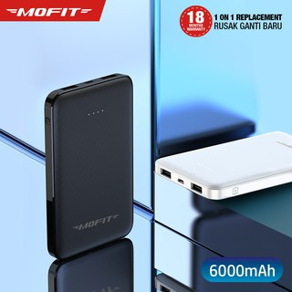 Powerbank MOFIT M69 6.000mAh + Fast Charge Real Capacity