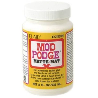 mod podge matte mat matter modpodge sealer plaid decoupage napkin