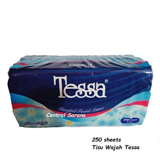 Tisu Wajah TESSA 250 lembar 2 Ply Natural Soft | NEW PRODUCT TESSA.