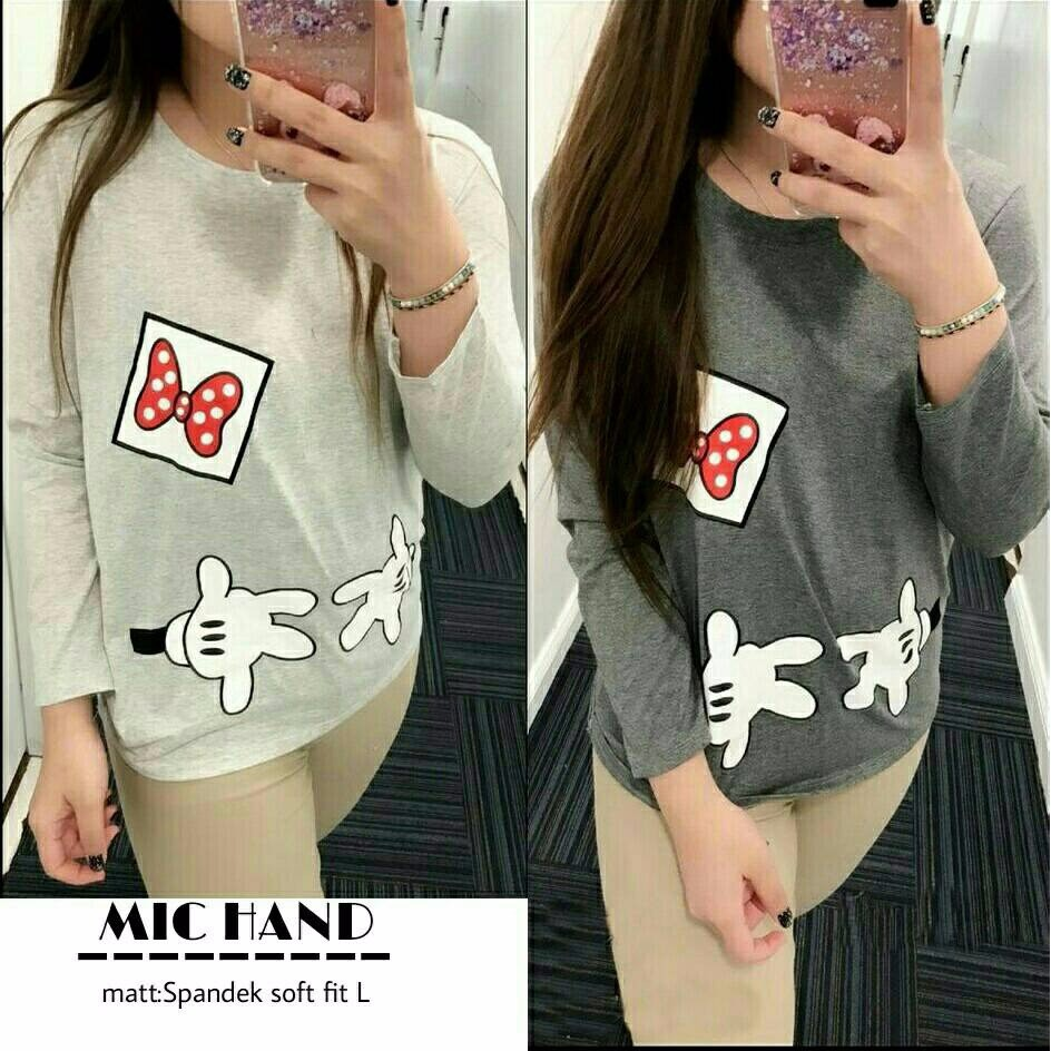 Mic Hand Pakaian Wanita dewasa Baju atasan cewek ABG Kaos cewek