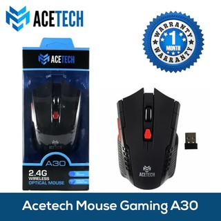Acetech Wireless Mouse Gaming - Mouse Wireless Bluetooth Gaming A30 Black