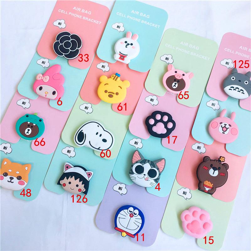 3D Cartoon Pop socket Stand Cat Paw Phone Holder Totoro Airbag Cute Snoopy Phone Finger Bracket