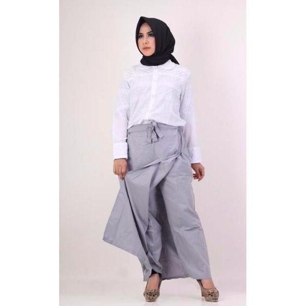 HOT Rok Muslimah Murah Nibras NRC 04 Abu Muda (ORIGINAL) Celana Wanita Terbaru