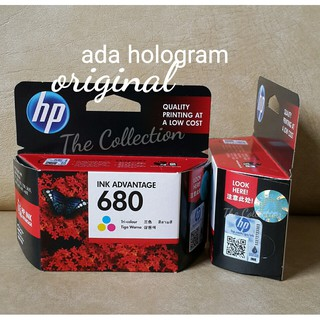 PROMO READY COLOR SEGEL Ada Hologram Tinta HP 680 Printer Original Ink Deskjet 111 213 363 38 4678