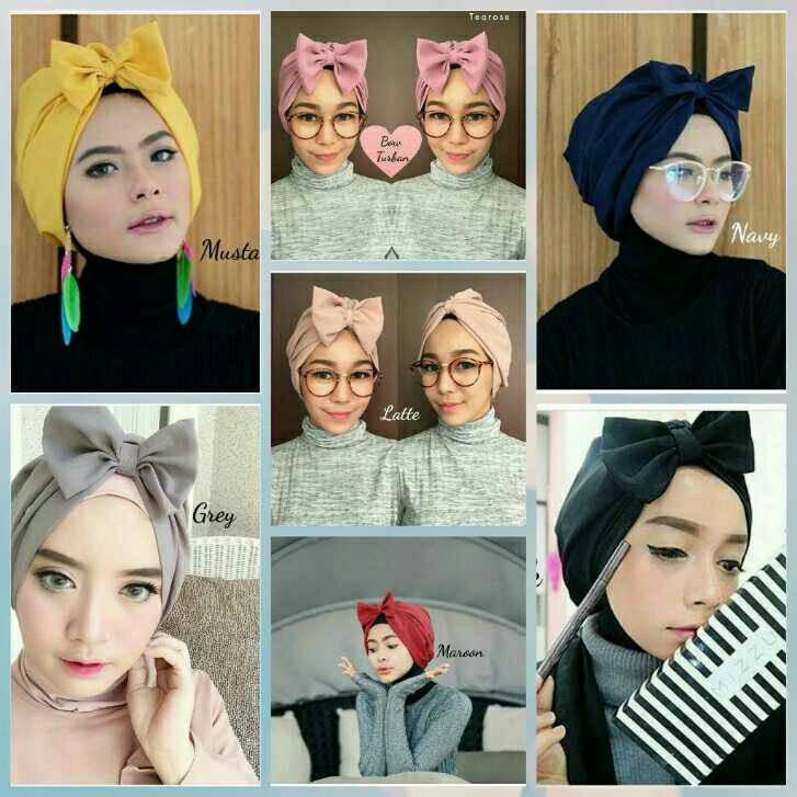 bow turban/turban instan/turban pita