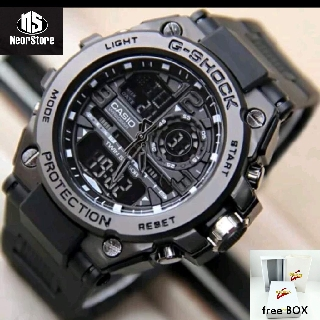 SHOPEE 11.11 / JAM TANGAN GSHOCK CASIO GST 8600 FULL BLACK METAL ANTI AIR