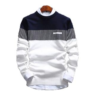 Sweater Rajut Pria Marcello White Rajut Tribal