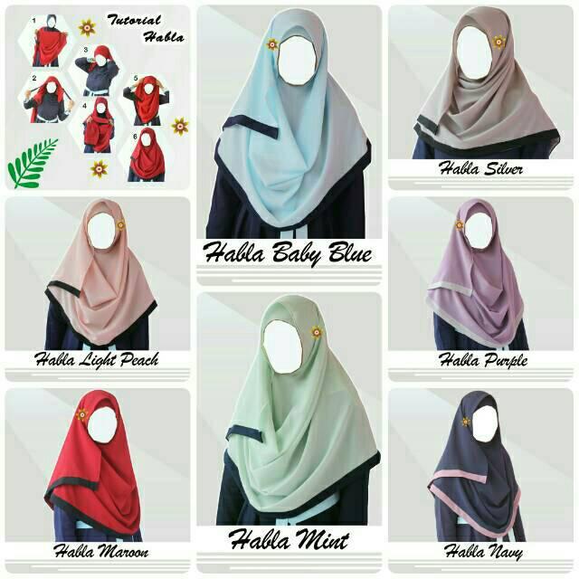Hijab/Jilbab Pashmina Instant Habla _ (Kerudung)
