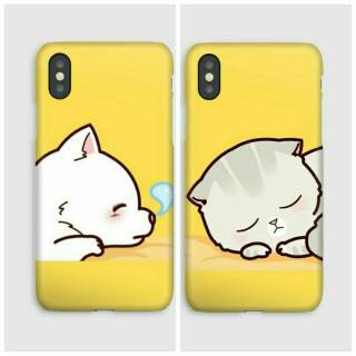 COUPLE DOG CAT CUSTOM CASE HARGA PERCASE SAMSUNG S9 S9PLUS S8 OPPO A37 A39 A83 F5 F3 F1 F7 F9 F11