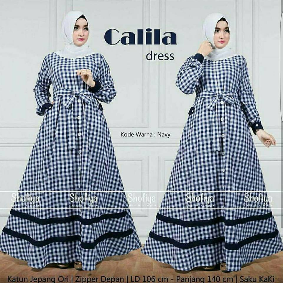 Calila dress hitam  ns