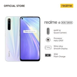 realme 6 8/128GB [64MP AI Quad Camera, Helio G90T, 4300 mAh Battery, 30W Flash Charge, 90Hz Display]