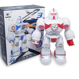 2℮ Mainan Anak Robot - Robotan Iron Missile X3 Light and Sound God Of War 6059
