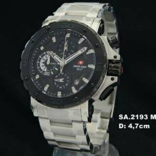New Jam Tangan Swiss Army Collection SA~ 2193 Original Garamsi 1 Tahun /Silver Black!