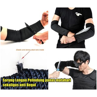 armor arm sarung lengan tangan self defense pelindung anti begal tahan senjata tajam