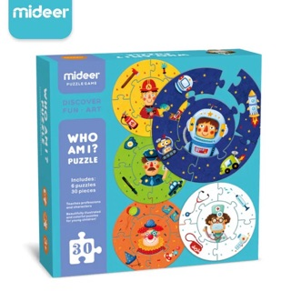 Mideer who am i puzzle - mainan puzzle anak