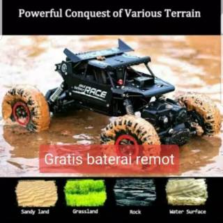 RC Rock Crawler monster alloy metal scale 1/18 adventure climbing mobil Offroad mainan anak mobil2an