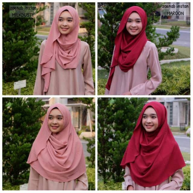 Zaenab Instan Polos (Hijab Pashmina Instan)