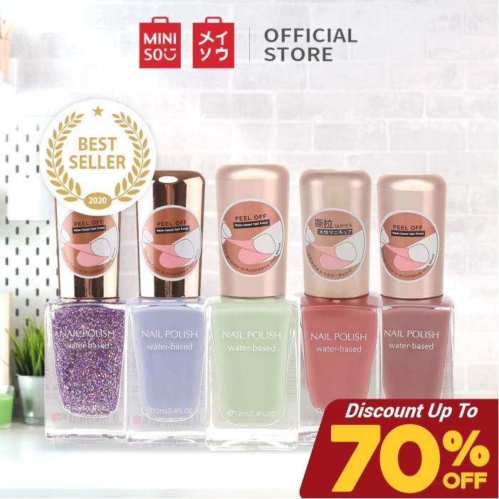 Miniso Official Kutek wanita Water Based Nail Polish #0