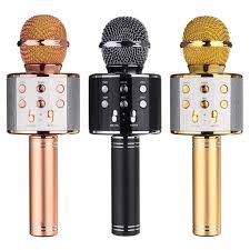 WS858 mic Portable Bluetooth Wireless Microphone Speaker Karaoke KTV MIC KARAOKE