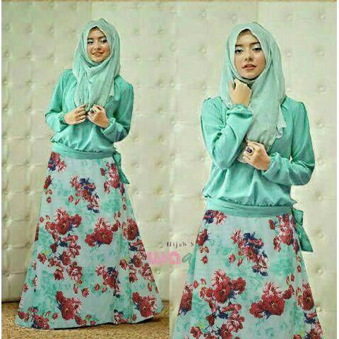 PROMO Hijab Zaskia Flower Set 3in1 TERLARIS