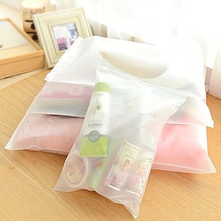 EDW 480 Zipper Storage Bag Polos Plastik Zipper Plastik Waterproof Plastik Anti Air Pakaian Sepatu