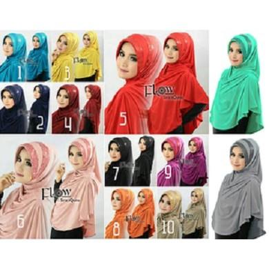 Desain Hijab Kerudung Terbaru Siria Squina Premium Squina Premium Flow Squina Jlb11 Bahan Halus